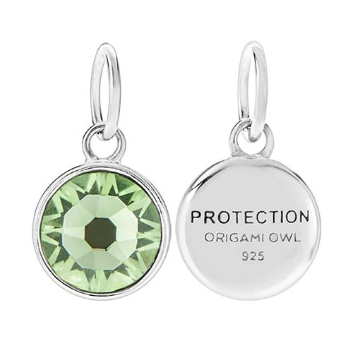 CR1126 Protection August Birthstone Peridot Swarovski Crystal V2 copy